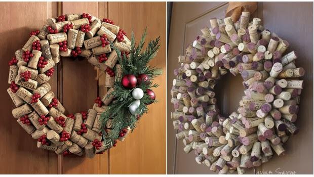 Elementos reciclados para crear guirnaldas en Navidad