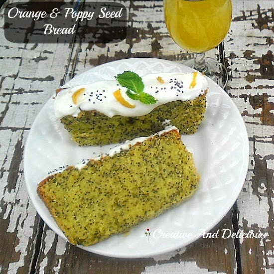 Orange and Poppy Seed Bread ~ moist with a smooth icing topping #BreadRecipe #OrangeBread #PoppySeedBread