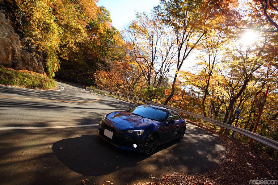 Subaru BRZ, touge, górska droga, mountain pass, boxer, RWD, zdjęcia, fotki, przód