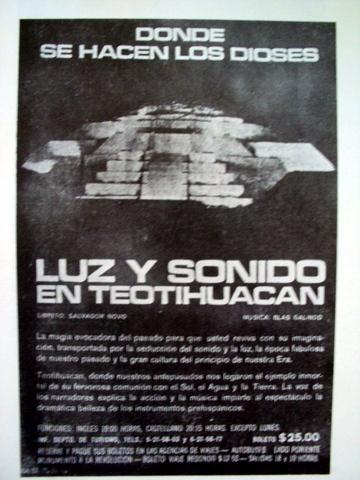 El bable el turismo en m xico en los a os setenta Espectaculo de luz y sonido en teotihuacan