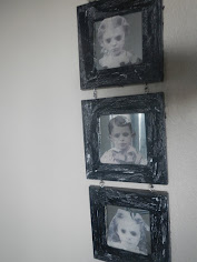 Black-eyed children tri-mirror wall hanging