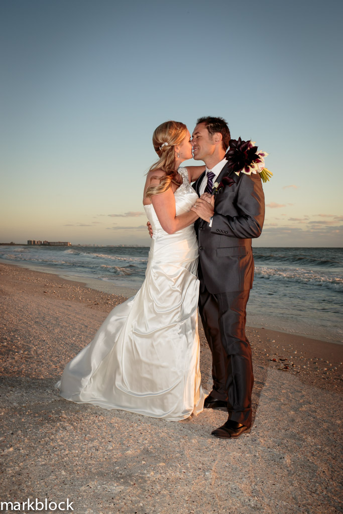 Kelsie Welch and Mihai Marian Beach Wedding Photo at Lovers Key State Park - Photo by Mark Block