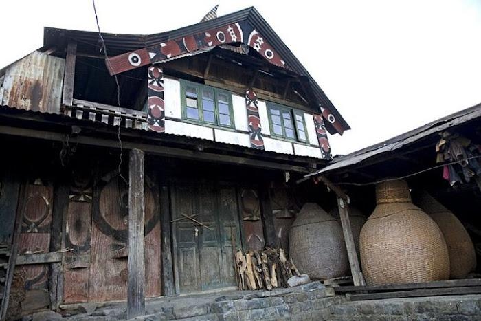 A house in Kigwema, Kohima, Nagaland - Johan Gerrits photography