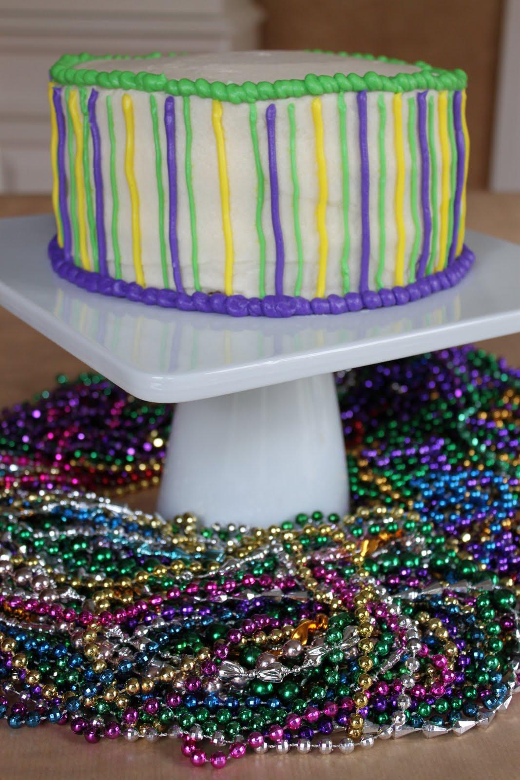 Crave indulge satisfy mardi gras king cake inspired layer cake mardi gras king cake inspired layer cake arubaitofo Choice Image