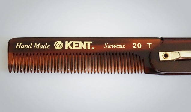 Kent Men's Folding Pocket Comb Fine 20T