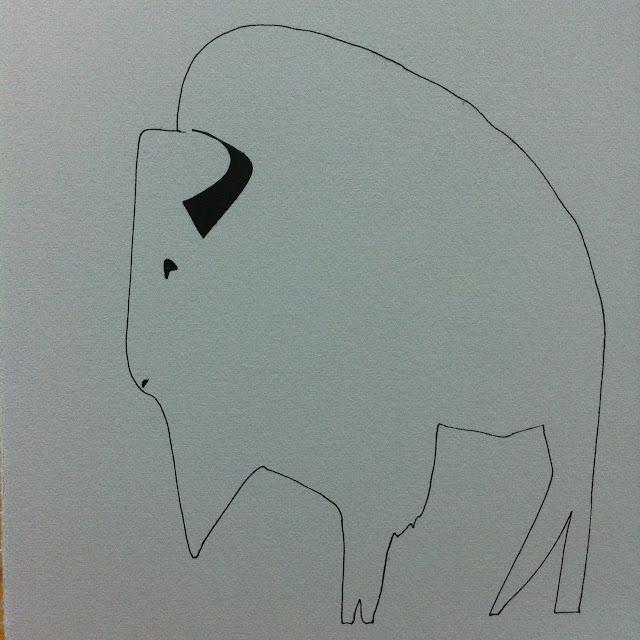 Lana Fee Rasmussen art, Bison, 6/32 SoCal Series
