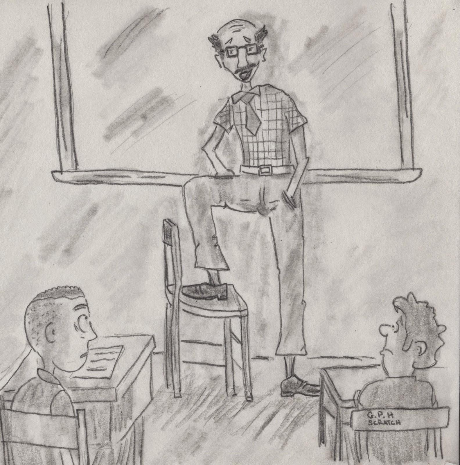 TEACHER TELLING ANECDOTE
