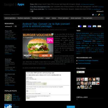 Black Clean Ads Ready Blogger Template. template ads ready for blogger