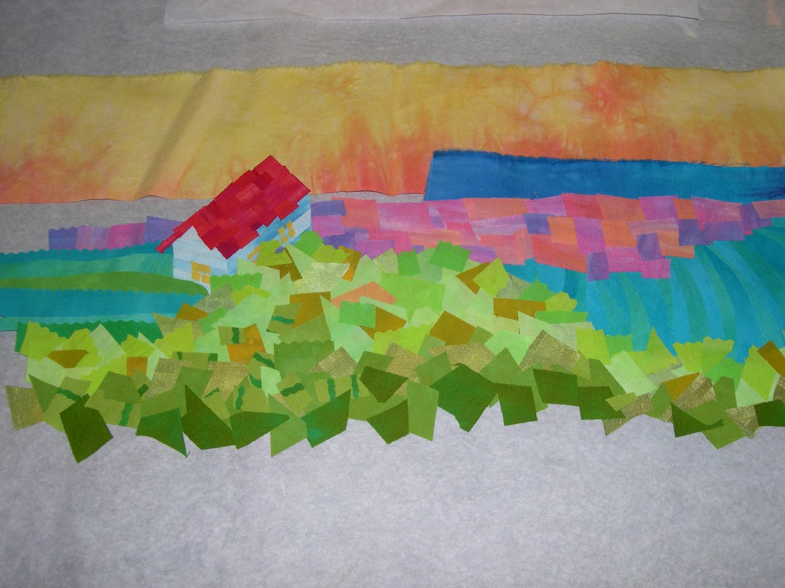 Artfabrik: A Recipe for Improvised Quilts : how to make art quilts - Adamdwight.com