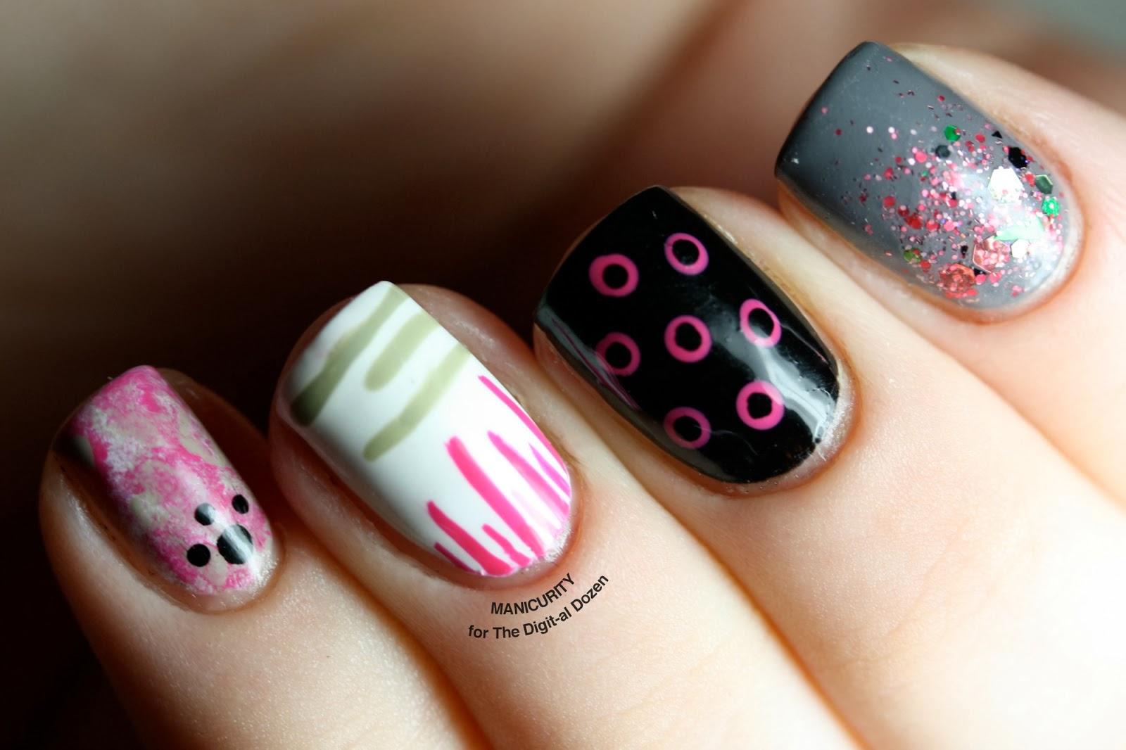 A Dozen... Easy Nail Art Patterns! - The Digit-al Dozen