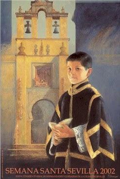 Cartel de la Semana Santa de Sevilla 2002