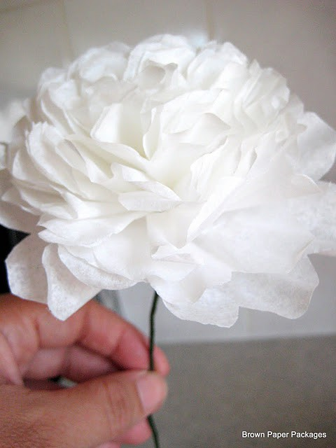 Coffee filter peonies