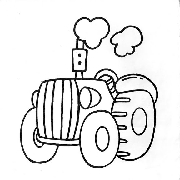 Dibujos infantiles: Dibujo infantil tractor