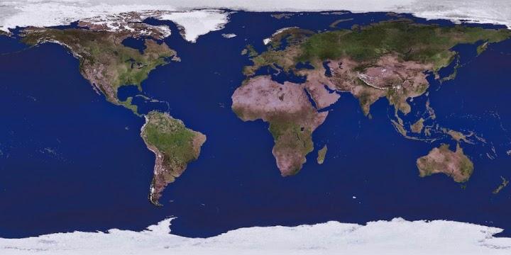 The World (Credit: NASA) Click to Enlarge.