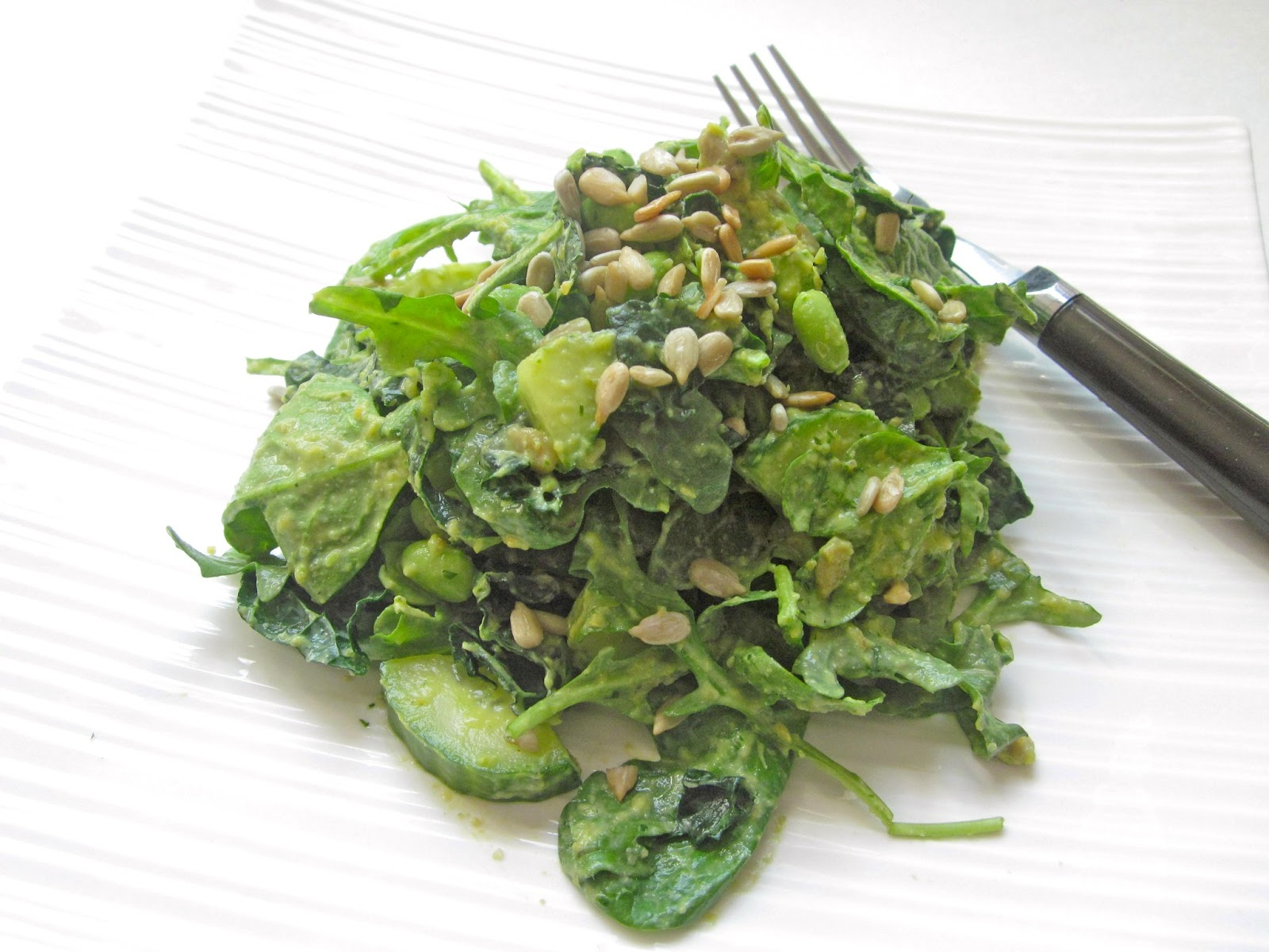 Go Green Salad with Creamy Herb Dressing (Vegan) | The Fresh Direction