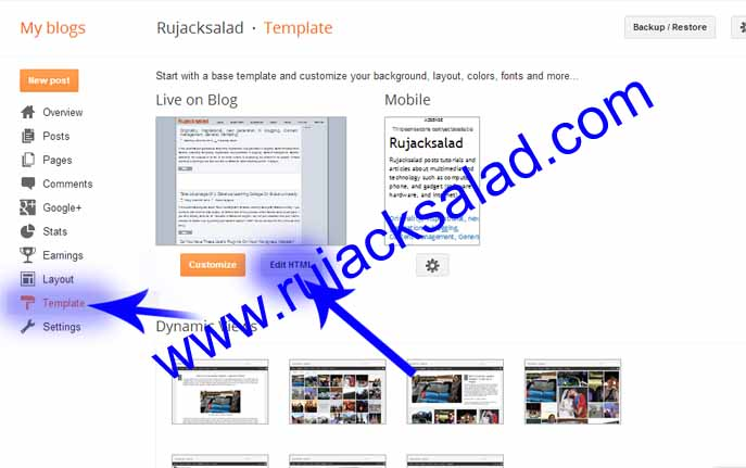 Hiding Or Showing Widgets On Blogger Page