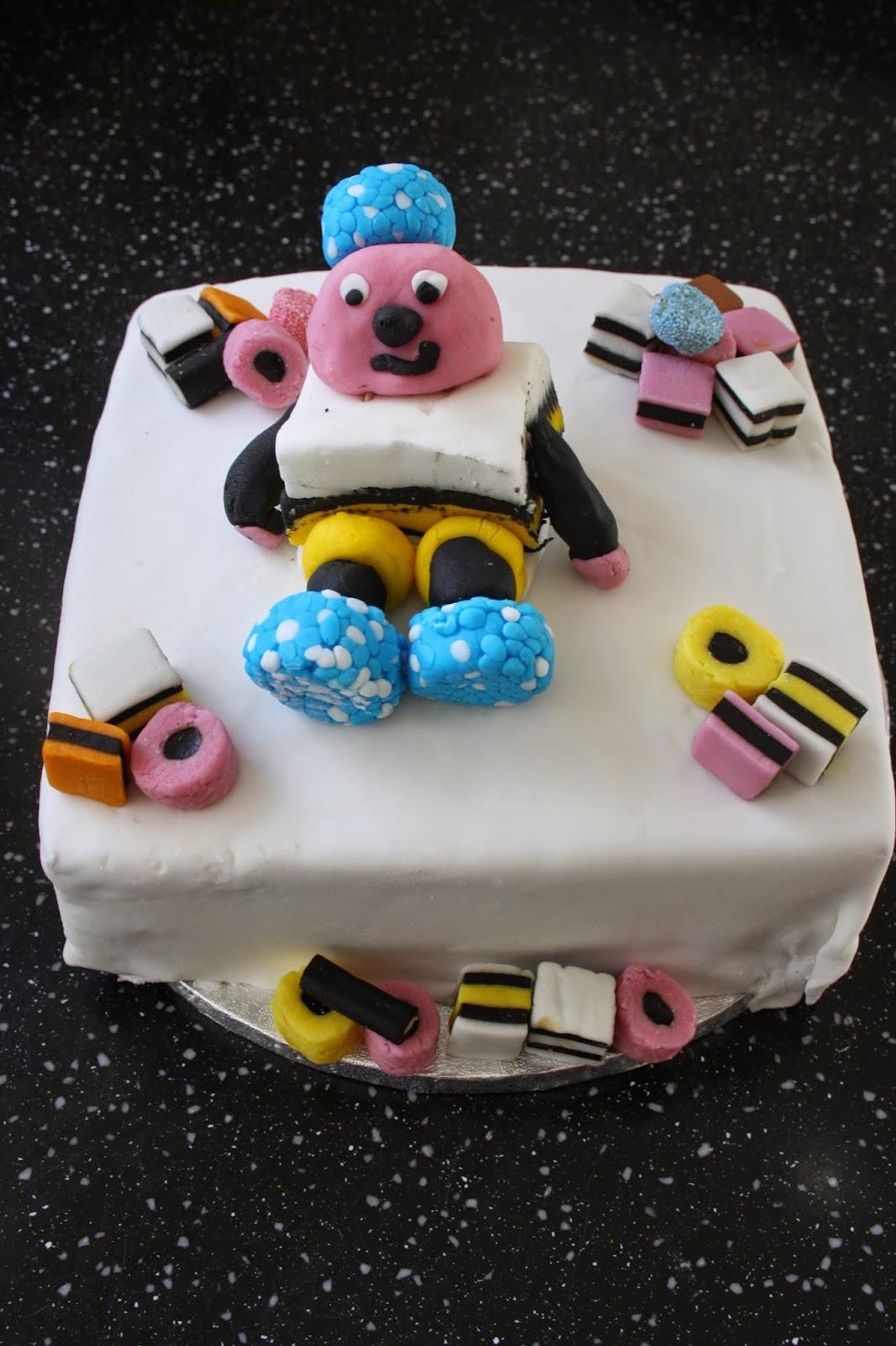 Bertie Bassett Liquorice Allsorts cake