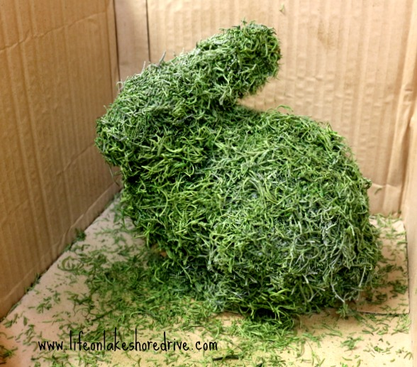 how to a moss a bunny, moss, tutorial, diy