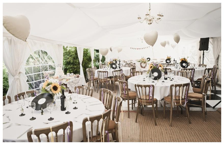 Real Vintage Sunflower Wedding  Chanelle  u0026 Terry   Wedding Reception
