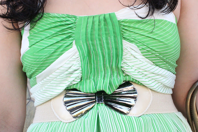 Alice + Olivia Green Summer Dress and Vintage Belt