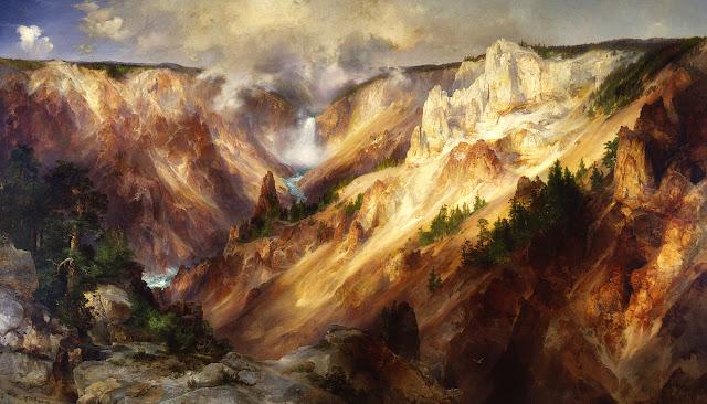 The Grand Canyon of the Yellowstone - Thomas Moran (1837–1926)