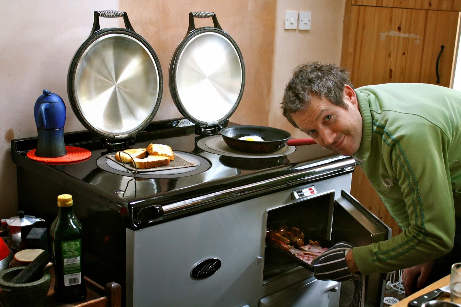 Aga - cooks breakfast