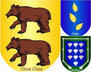 Heráldica Ossa, Montoya, Tobón. Escudo de Familia. Italia, Irlanda, y España