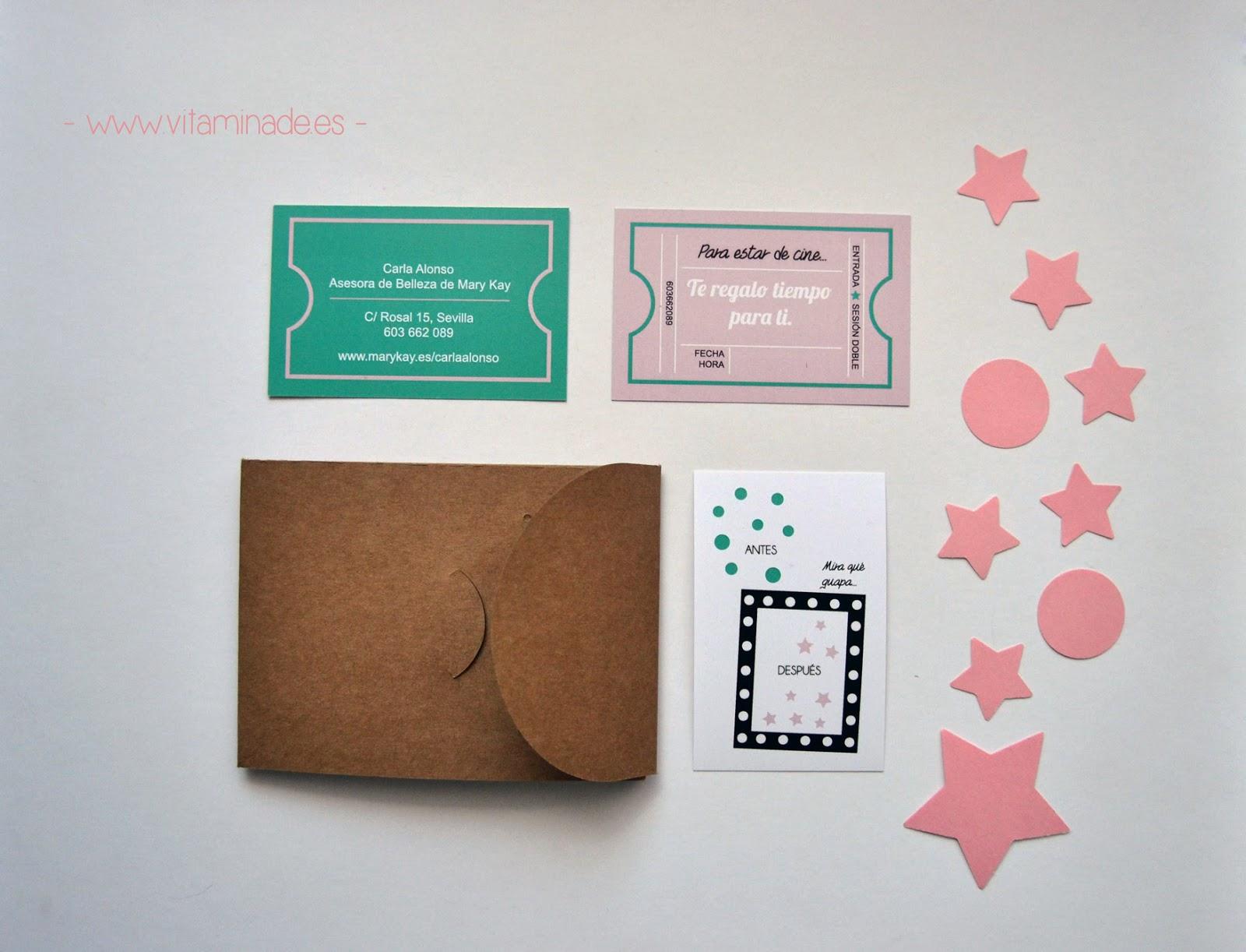 tarjetas sesion de belleza