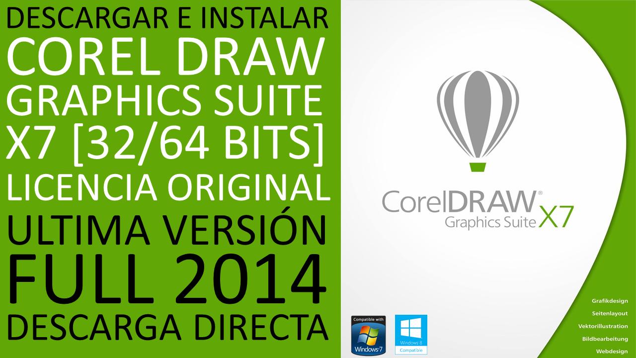 Como Descargar Coreldraw X7 32 Y 64 Bits 2015   descargar