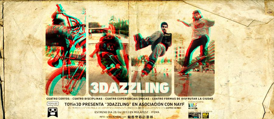 3DAZZLING FILMADA EN 3D CON GOPRO HERO3 POR TOYin3D