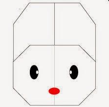 Bước 6: Vẽ mắt, vẽ mũi để hoàn thành cách xếp mặt con thỏ trắng kiểu mới bằng giấy.