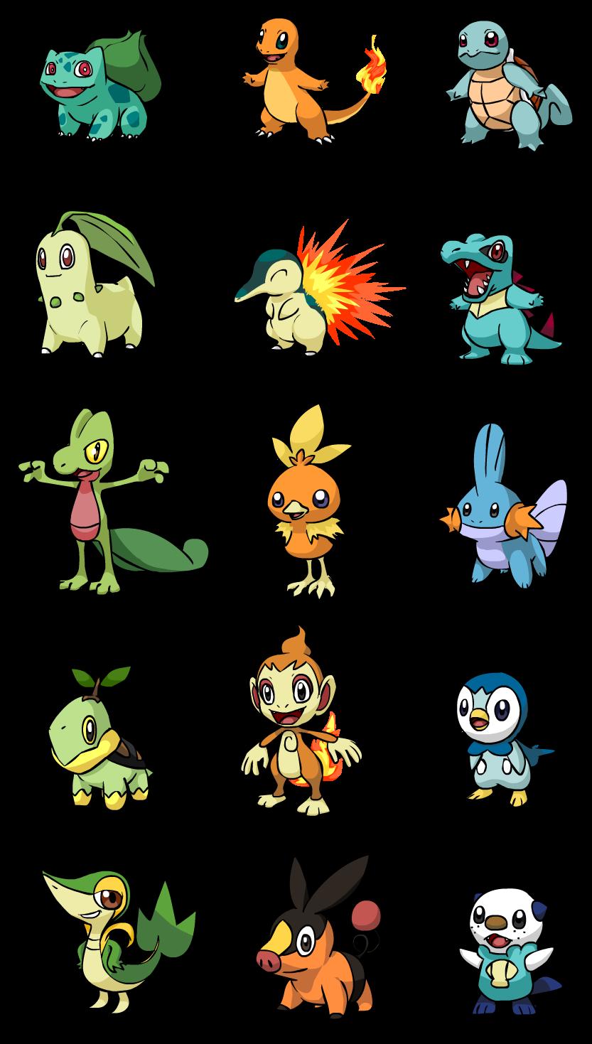 all starter pokemon evolve