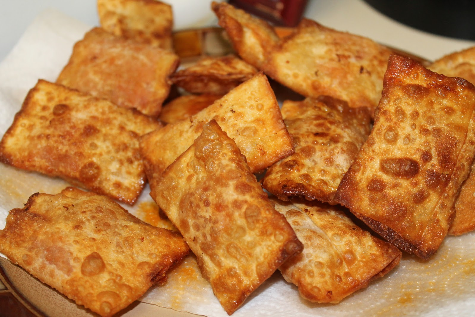 Homemade pizza rolls.