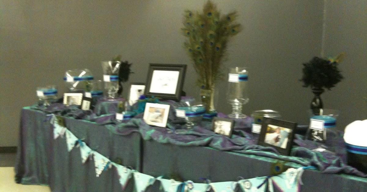 A Blissful Bash: A Peacock Wedding Candy Buffet