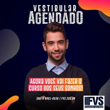 VESTIBULAR AGENDADO FVS DIA 15/08