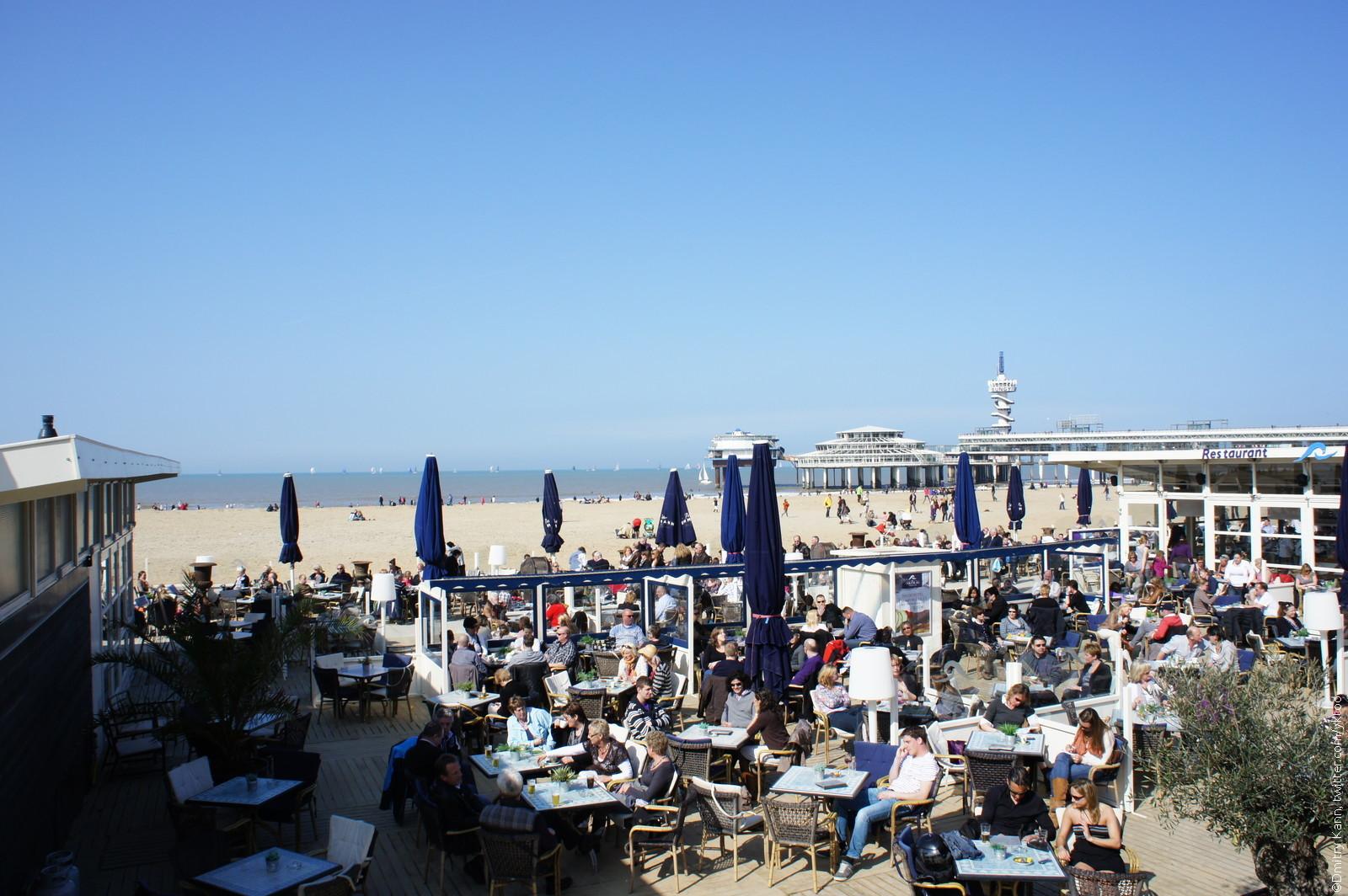 В нескольких километрах от гааги на берегу северного моря расположен модный курорт - схевенинген