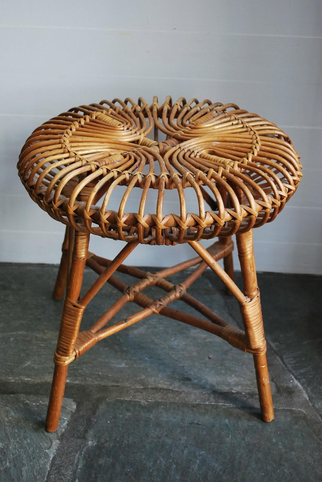 e r miller design new favorite find history vintage rattan ottoman by franco albini. Black Bedroom Furniture Sets. Home Design Ideas
