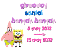 mega giveaway : santai banyak banyak .