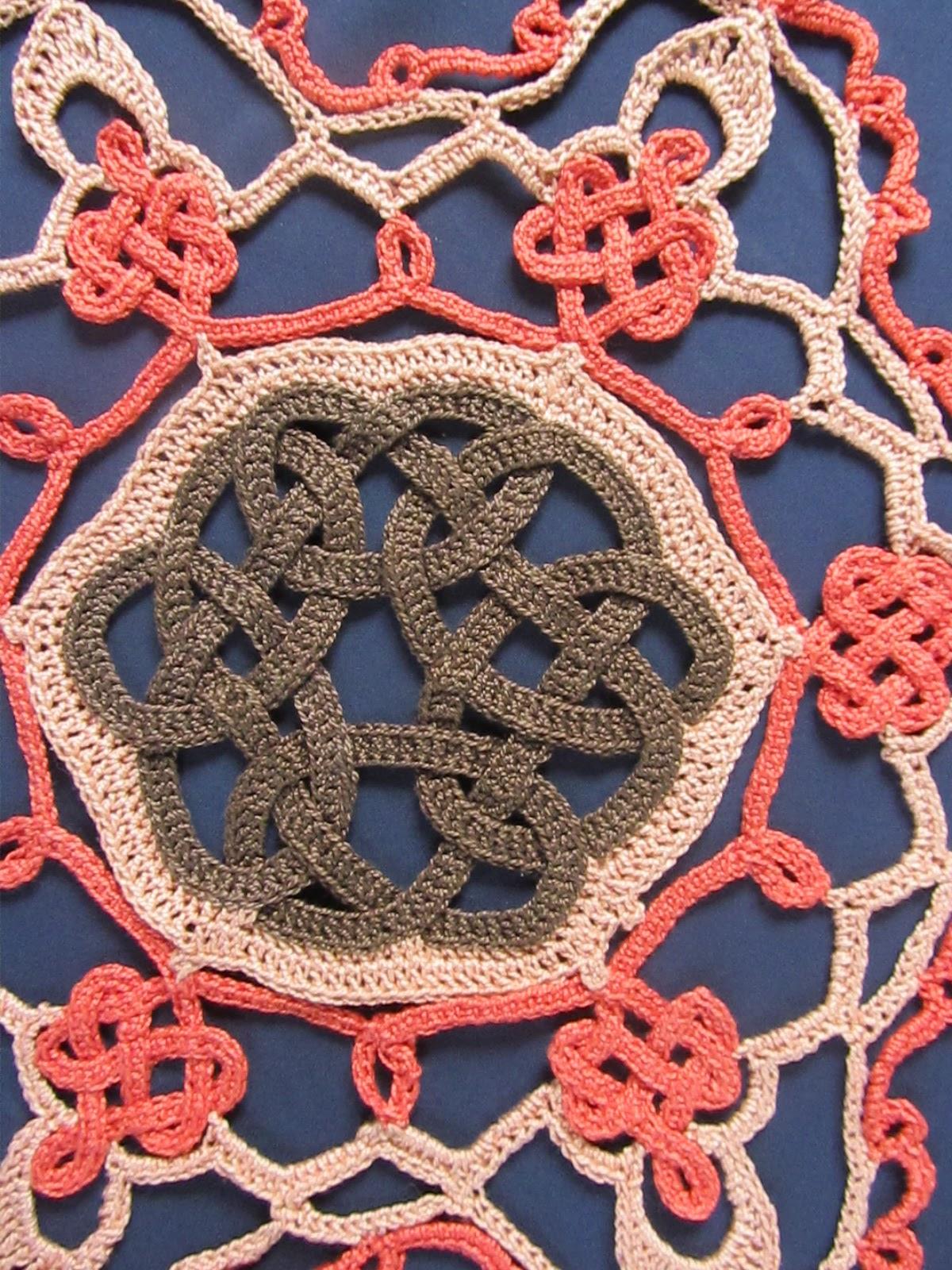 Autumn Snowflake Celtic Knot Crochet