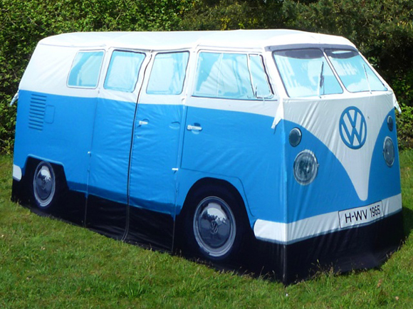 Get your 65 VW Camper Tent Art Car For this Years Camping Trip