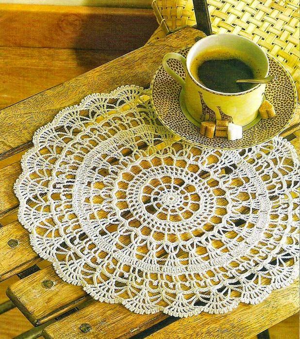 patron de carpeta tejida con ganchillo