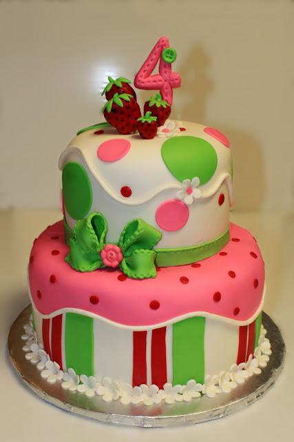 Strawberry And Basil Cake