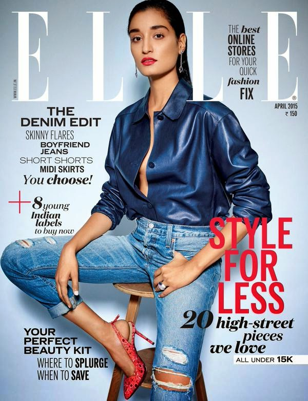 Actress, Supermodel @ Kanishtha Dhankar for Elle India, April 2015