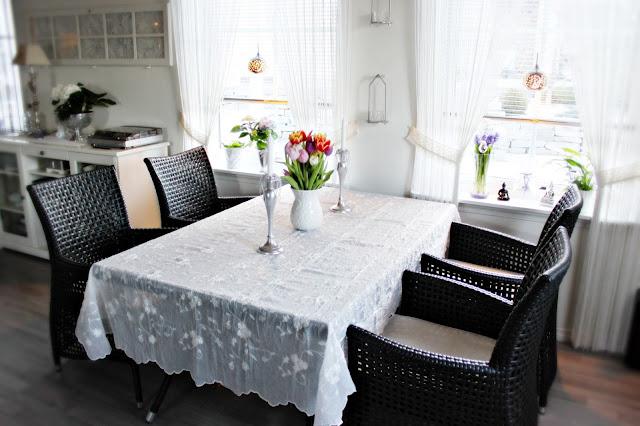 Hvite Blonder Og Myke Karameller: Spisestue/hagemøbler i stuen