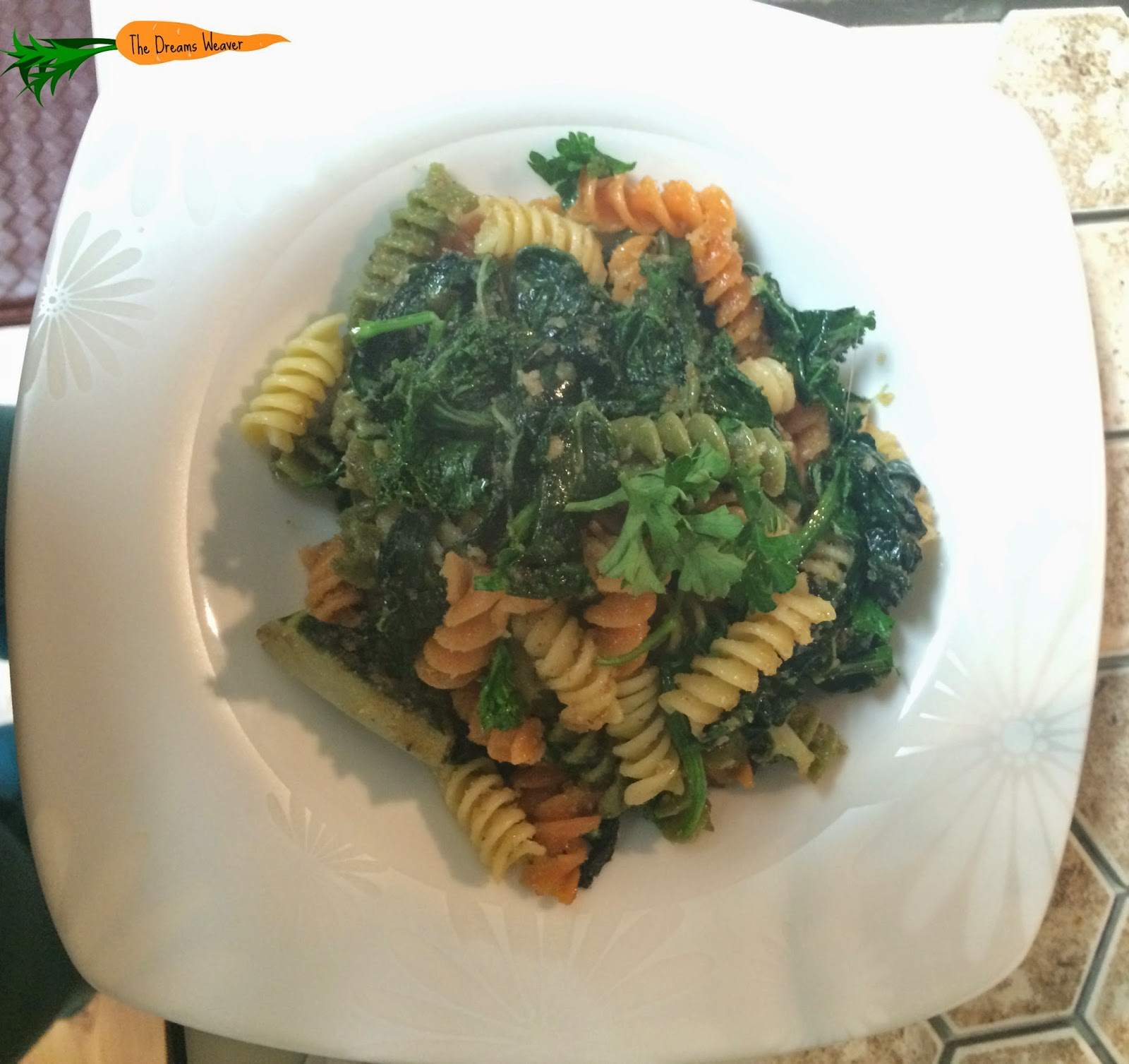 Glorious Greens Pasta~ The Dreams Weaver