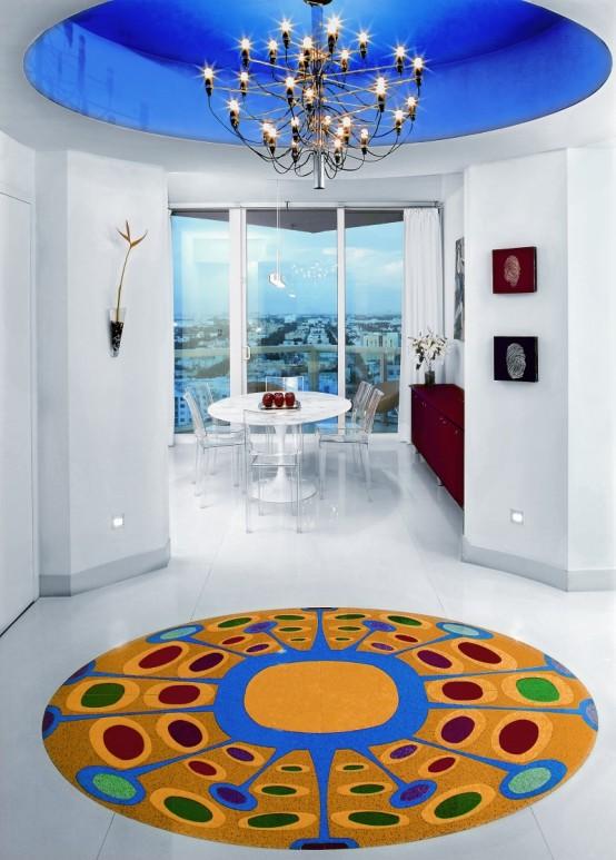 Luxury apartment interior design bright quirky and for Quirky apartment design