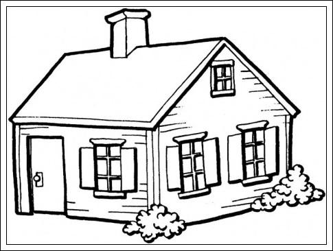 Haus zum Ausdrucken