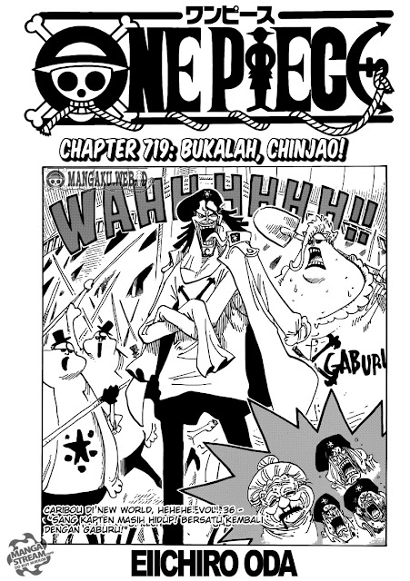 "Download Komik One Piece Chapter 719 ""Bukalah, Chinjao!"" Bahasa Indonesia"