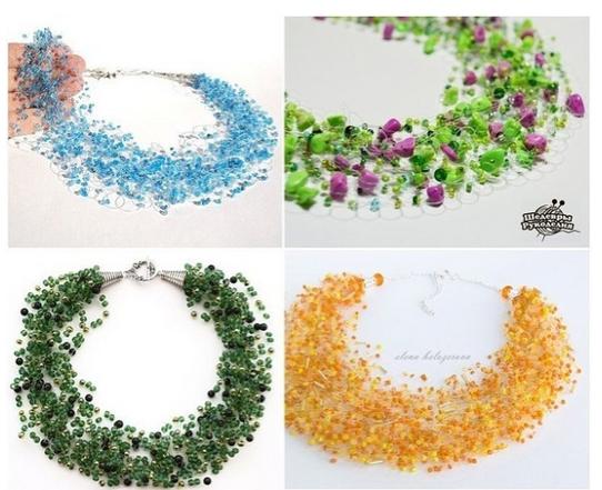 Как сделать ожерелье из бисера фото