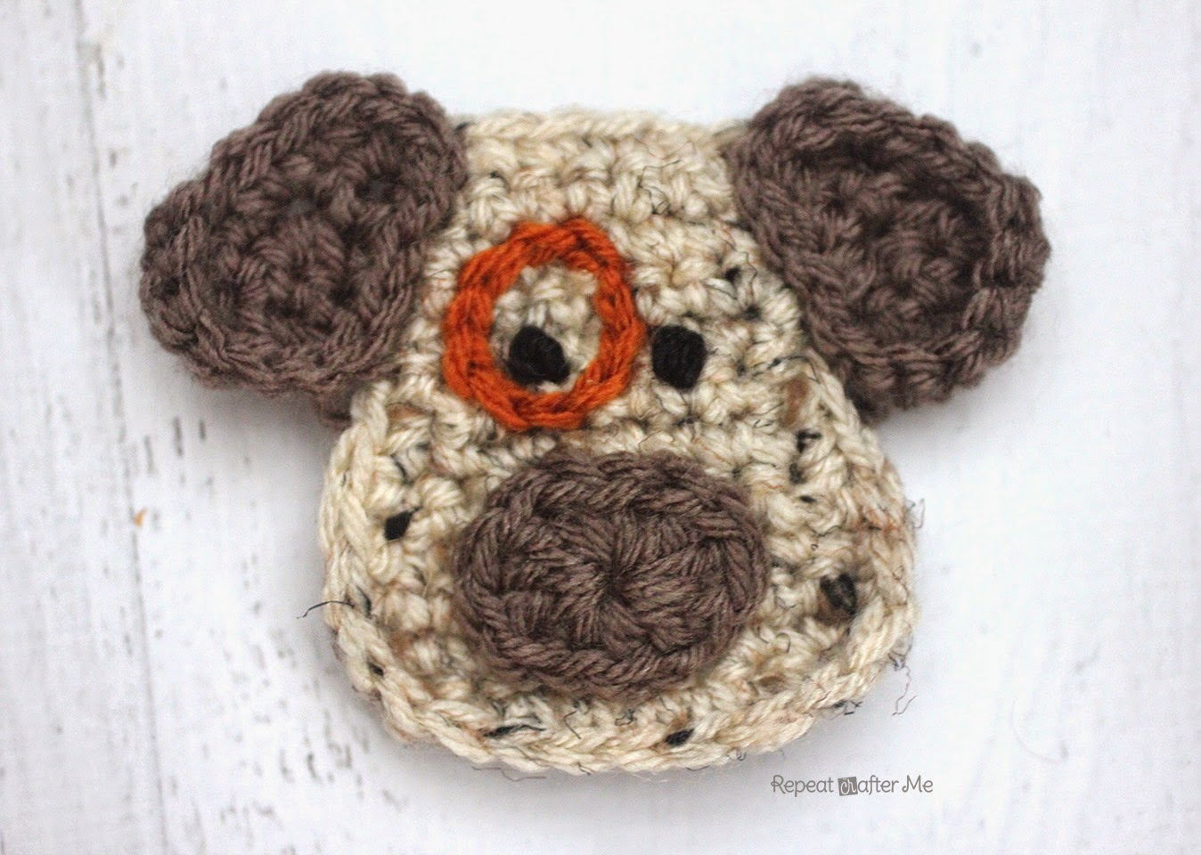 Crochet Applique : Here is Day 4 of my 26 Days of Crochet Animal Alphabet Appliques !